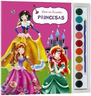 PRINCESAS -LIBRO CON ACUARELAS-           (C/ACUARELAS Y PINCEL)