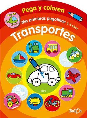 PEGA Y COLOREA -TRANSPORTES-  (COL.MIS PRIMERAS PEGATINAS)