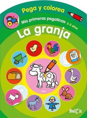 PEGA Y COLOREA -LA GRANJA-    (COL.MIS PRIMERAS PEGATINAS)