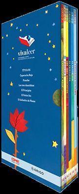 PACK INFANTIL VIVA LEER #1 -AZUL MARINO/FLOR- (C/6 LIBROS)