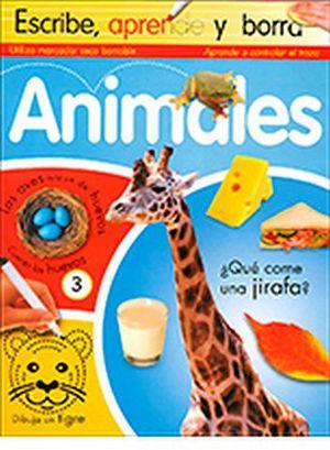 ANIMALES                   -ESCRIBE,APRENDE Y BORRA-
