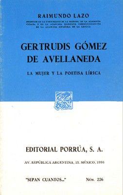 226 GERTRUDIS GOMEZ DE AVELLANEDA