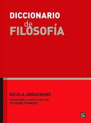 DICCIONARIO DE FILOSOFIA (GF)