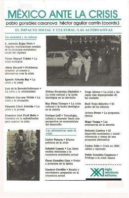 MEXICO ANTE LA CRISIS. VOL. 2 EL IMPACTO SOCIAL Y CULTURAL