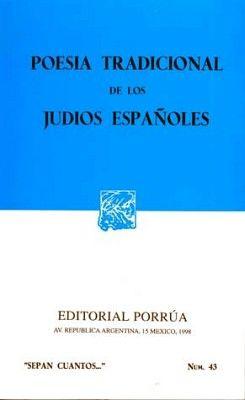 043 POESIA TRADICIONAL DE LOS JUDIOS ESPAÑOLES