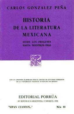 044 HISTORIA DE LA LITERATURA MEXICANA