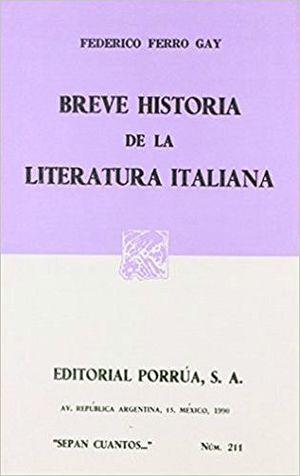 211 BREVE HISTORIA DE LA LITERATURA ITALIANA