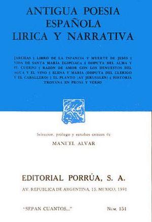 151 ANTIGUA POESIA ESPAÑOLA