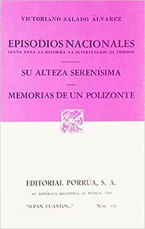 456 EPISODIOS NACIONALES SANTA ANNA