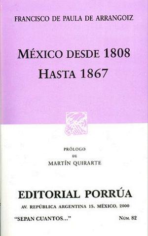 082 MEXICO DESDE 1808 HASTA 1867