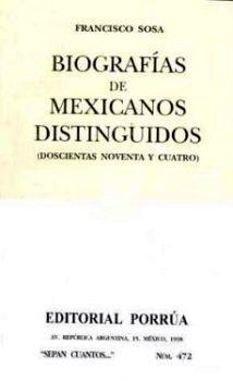 472 BIOGRAFIA DE MEXICANOS DISTINGUIDOS