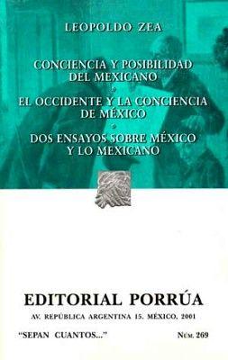 269 CONCIENCIA Y POSIBILIDAD DEL MEXICANO
