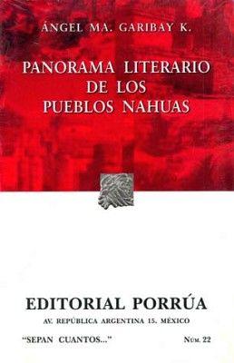022 PANORAMA LITERARIO DE LOS PUEBLOS NAHUAS