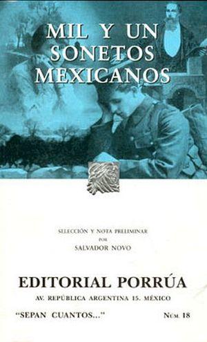 018 MIL Y UN SONETOS MEXICANOS