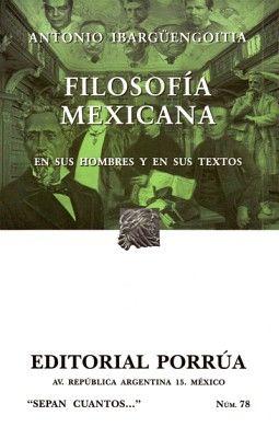078 FILOSOFIA MEXICANA