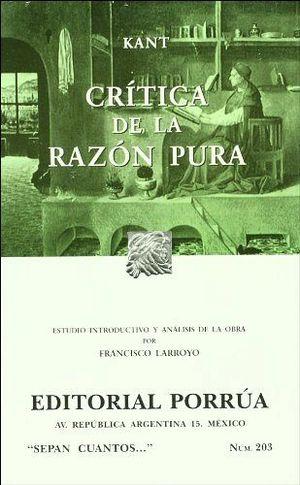 203 CRITICA DE LA RAZON PURA