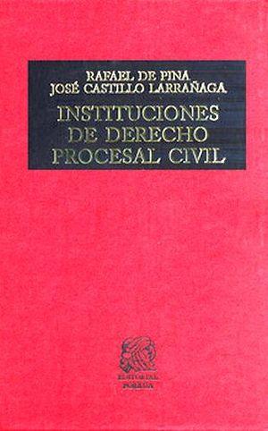 INSTITUCIONES DE DERECHO PROCESAL CIVIL  (TELA)