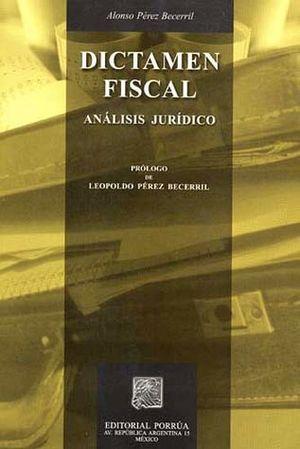 DICTAMEN FISCAL ANALISIS JURIDICO