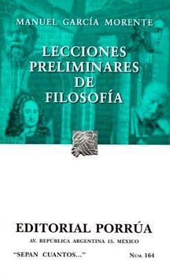 164 LECCIONES PRELIMINARES DE FILOSOFIA