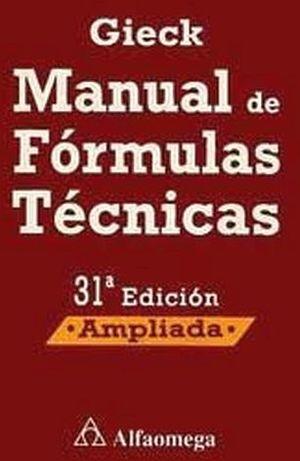 MANUAL DE FORMULAS TECNICAS (BOLSILLO) 31ED.  -AMPLIADA-