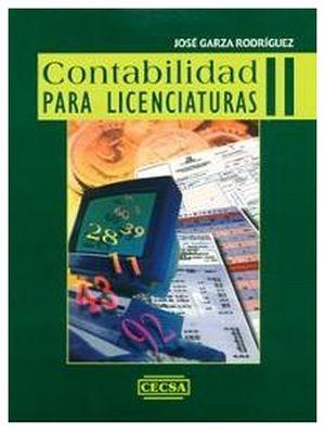 CONTABILIDAD PARA LICENCIATURAS II