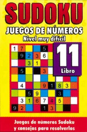 SUDOKU 11 (JUEGOS DE NUMEROS) -NIVEL MUY DIFICIL-