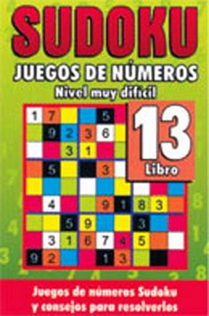 SUDOKU 13 (JUEGOS DE NUMEROS) -NIVEL MUY DIFICIL-