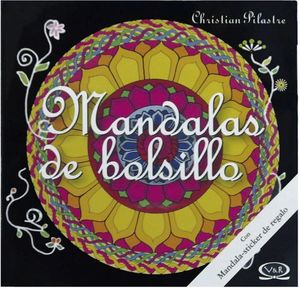 MANDALAS DE BOLSILLO C/STICKER -NEGRO-