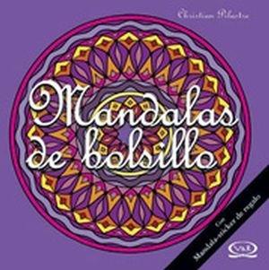 MANDALAS DE BOLSILLO C/STICKER -MORADO-                        12