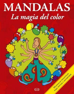 MANDALAS -LA MAGIA DEL COLOR-  8 (ROJO-INFANTILES P/PINTAR Y DIV)